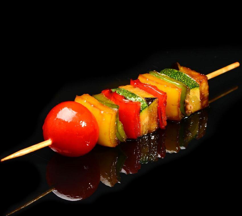 Шашлык из овощей в картинках